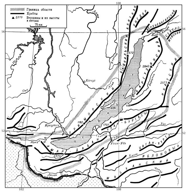 Байкальский хребет карта схема