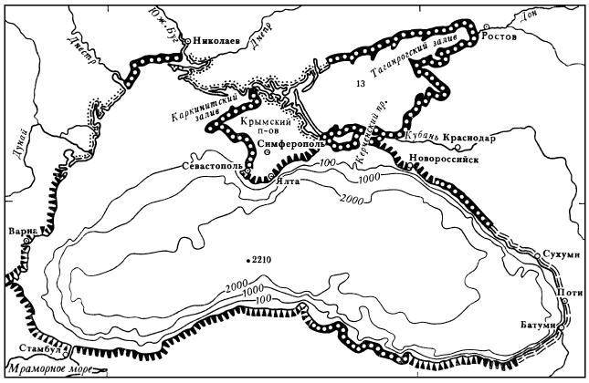 Типы берегов и рельеф дна